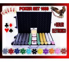 SET PROFESSIONALE 1000 FICHES/CHIP PRO POKER 11,5 GR - SET COMPLETO + DEALER ELTTRONICO